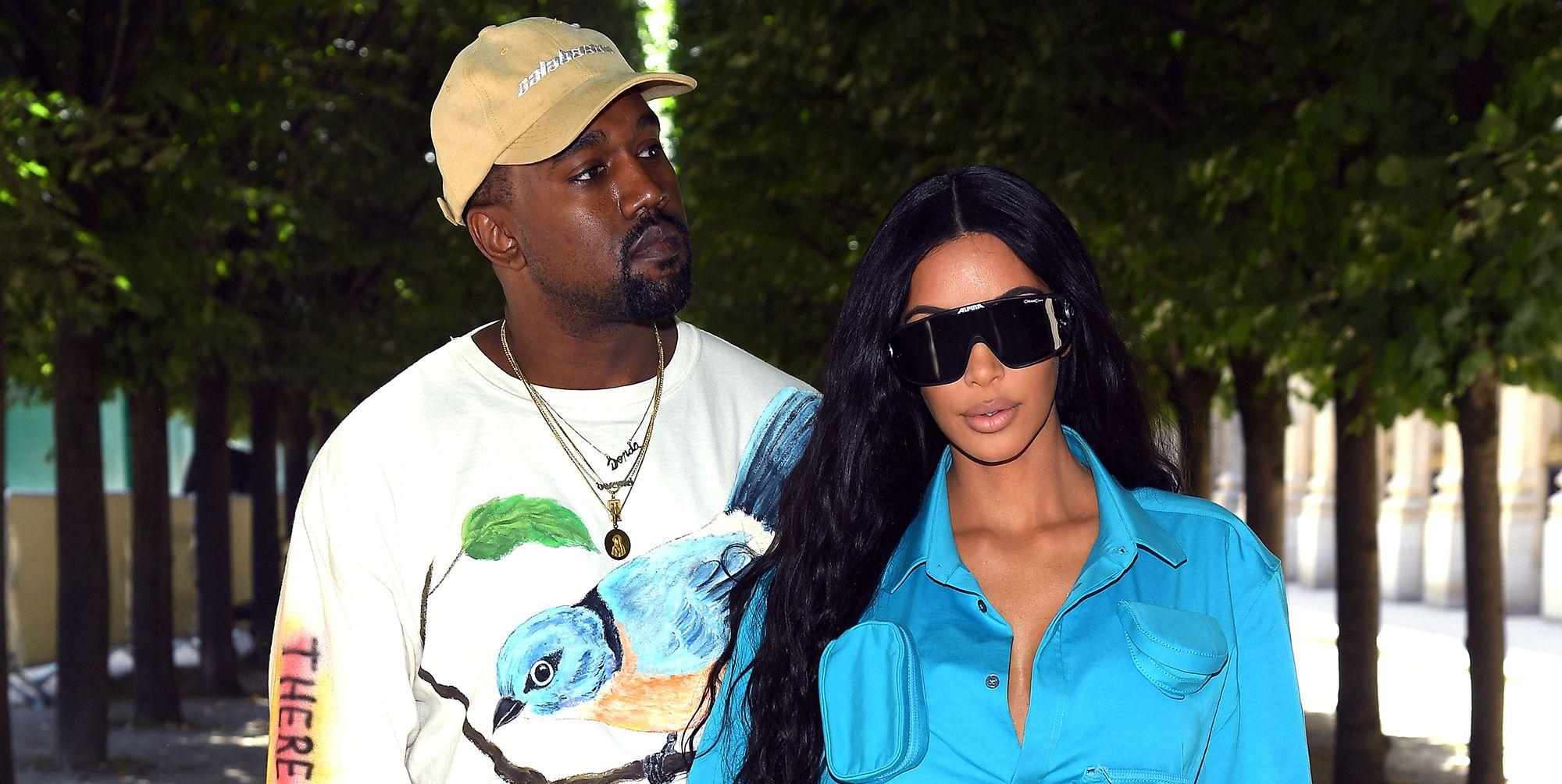 Kim Kardashian blue pocket dress
