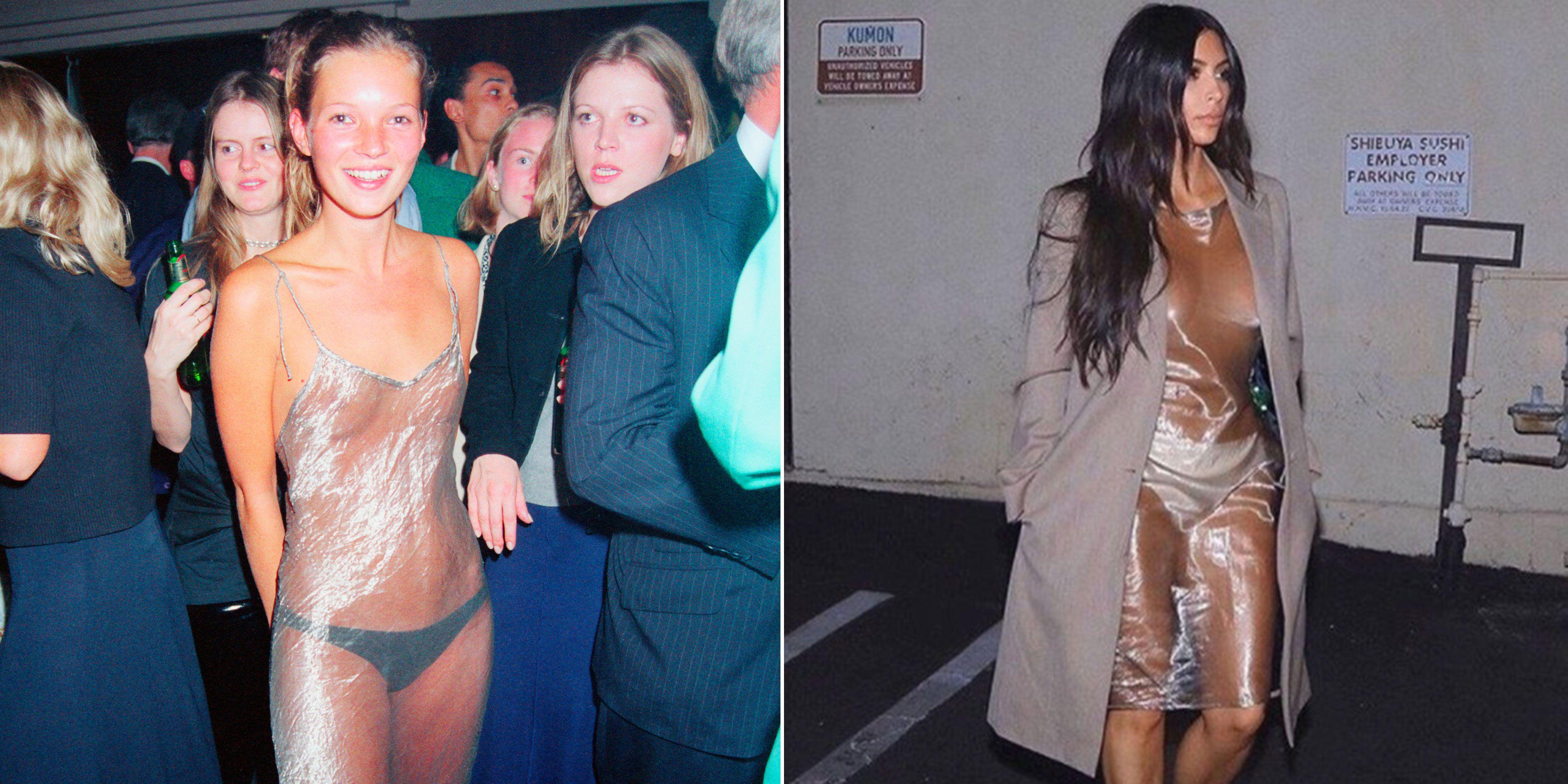 Amy Macdonald Topless kim kardashian copies kate moss' naked slip dress – kim