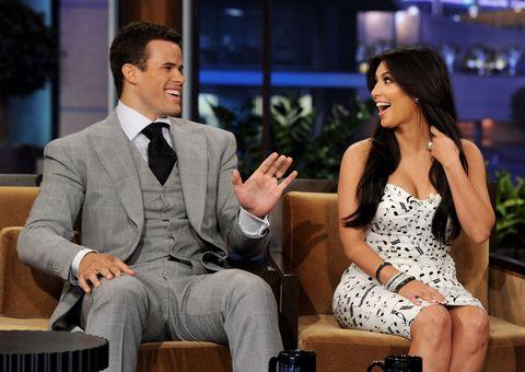kris humpries en kim kardashian bij de tonight show in oktober 2011