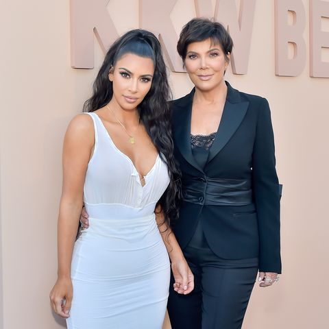 los angeles, ca   june 30  kim kardashian west l and kris jenner attend kkw beauty fan event at kkw beauty on june 30, 2018 in los angeles, california  photo by stefanie keenangetty images for aba