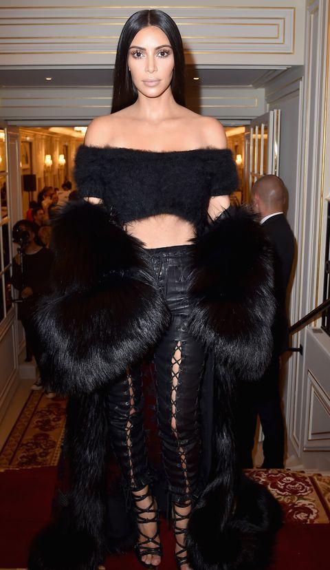 Clothing, Fur, Fashion, Fur clothing, Haute couture, Dress, Outerwear, Textile, Carpet, Long hair,