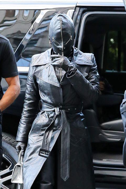kim kardashian vestida de cuero de arriba a abajo en nueva york, en septiembre de 2021