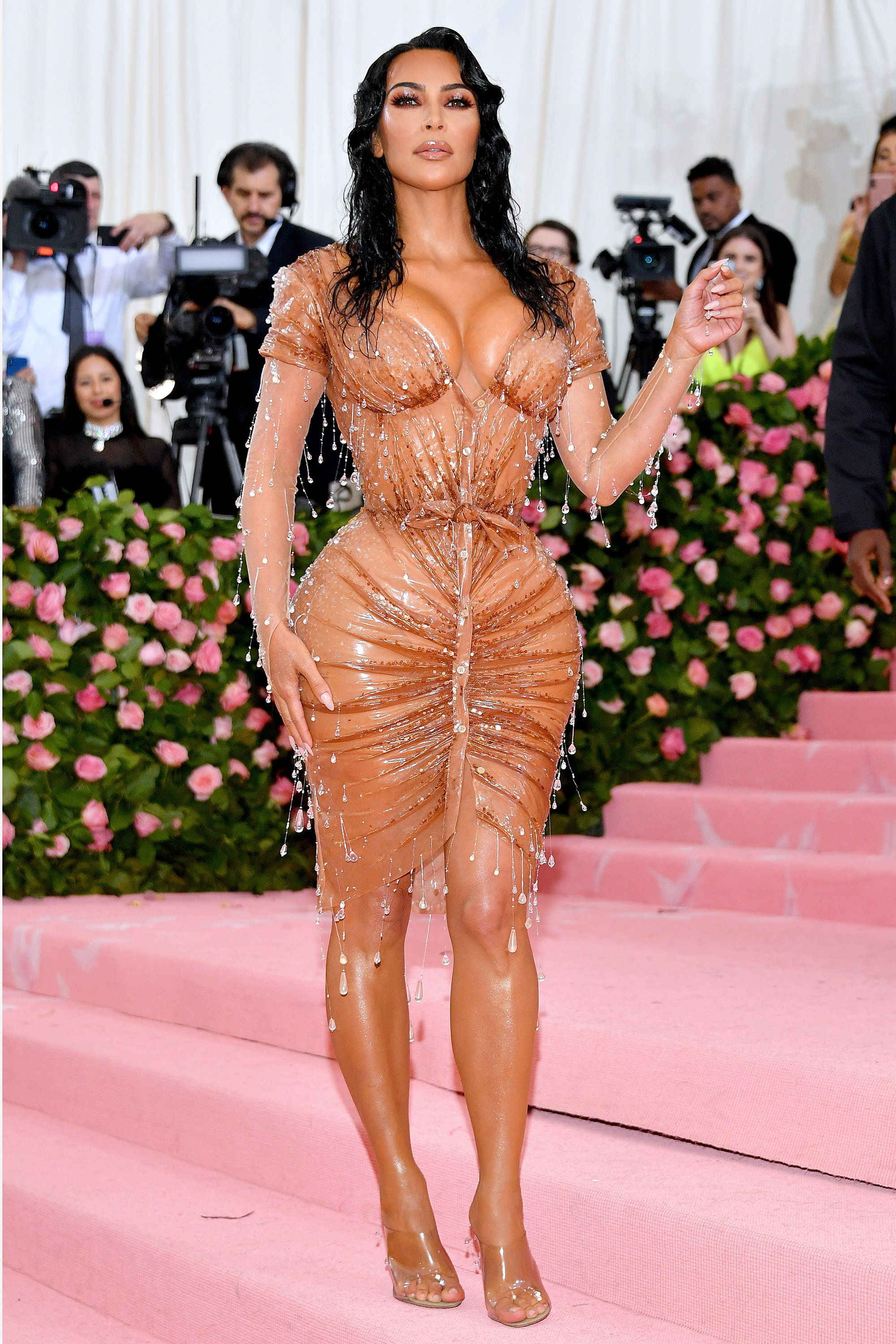 c87d2f21bf4 Kim Kardashian West s Mugler dress took eight months to make – Kim  Kardashian at the 2019 Met Gala