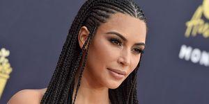 Kim Kardashian with braids