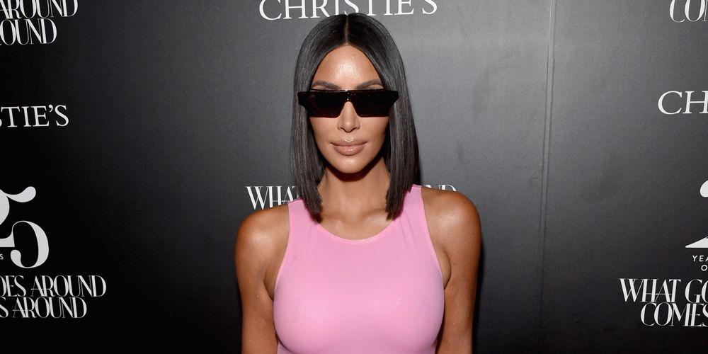 kim kardashian neon pink mini latex dress christies auction preview