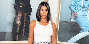 Kim Kardashian newspaper look Dior