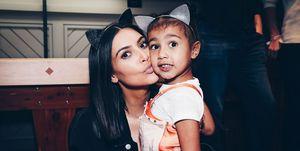 Kim Kardashian North West makeup