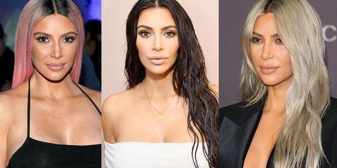 Kim Kardashian dyed hair