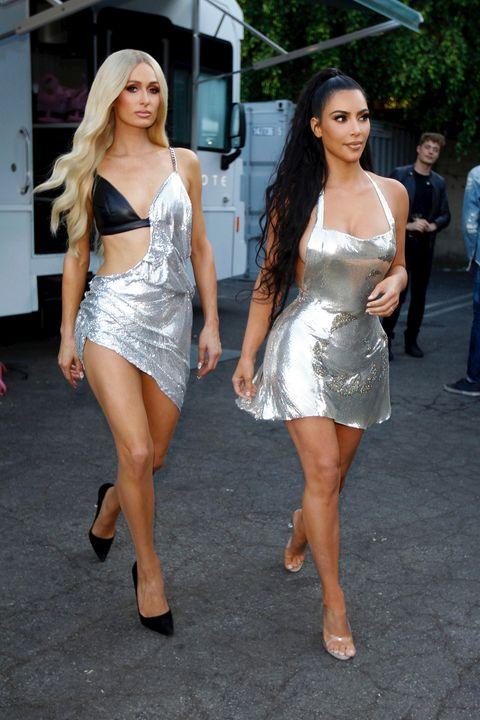 Kim Kardashian y Paris Hilton graban un video de música