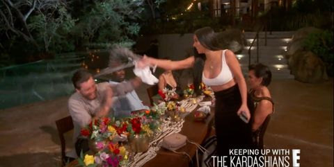 Why Kris Jenner, Khloe and Kim Kardashian threw drinks at Scott Disick