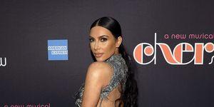 Kim Kardashian silver backless dress