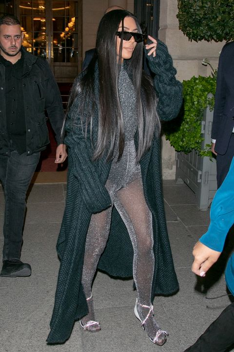 kim kardashian sparkly tights