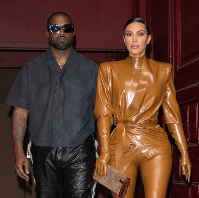 kanye west  kim kardashian leave kwest's sunday service at theatre des bouffes du nord   paris fashion week womenswear fallwinter 20202021