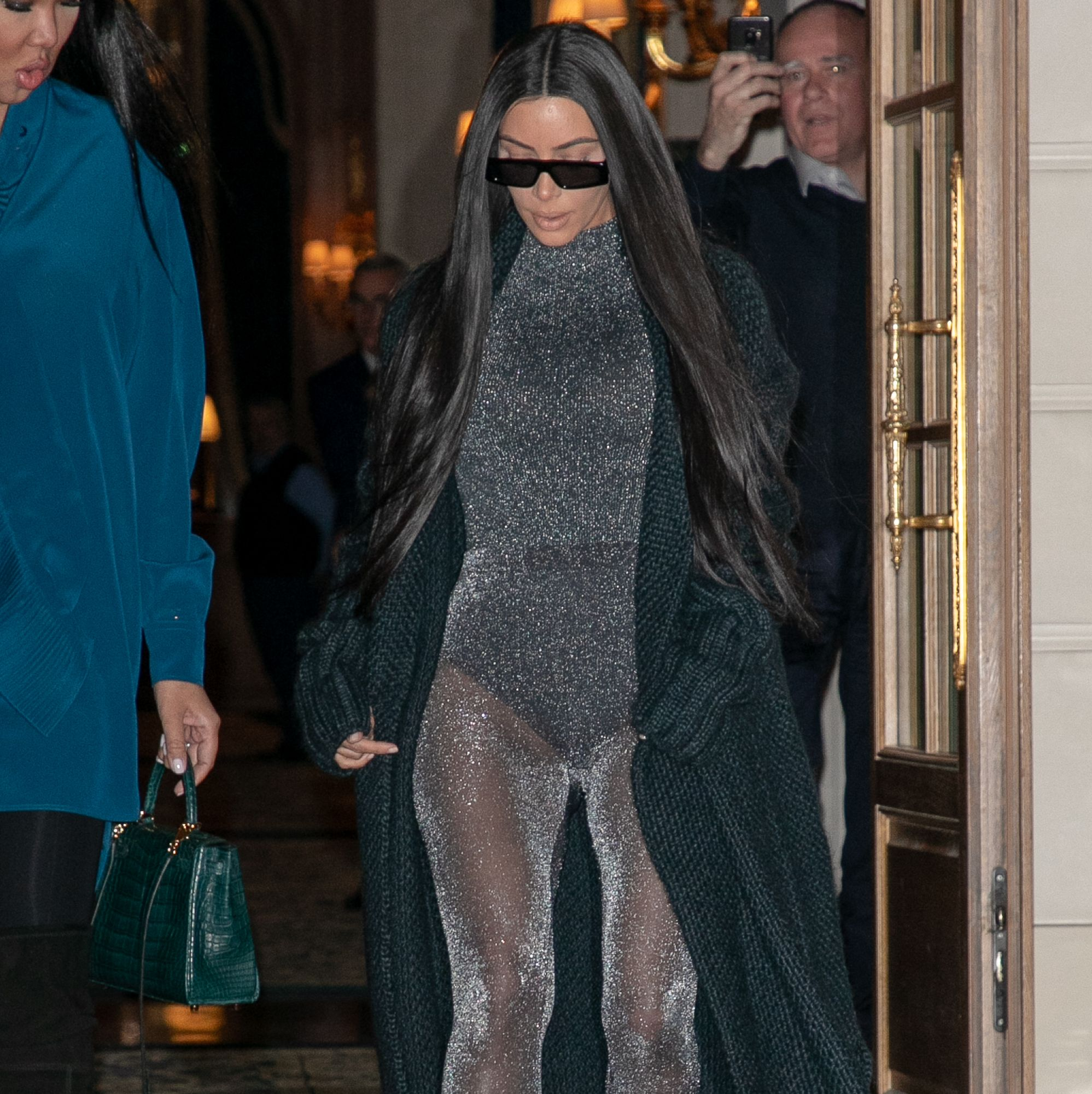 Kim Kardashian Just Wore A Sparkly See-Through Unitard And You Just Have To See It