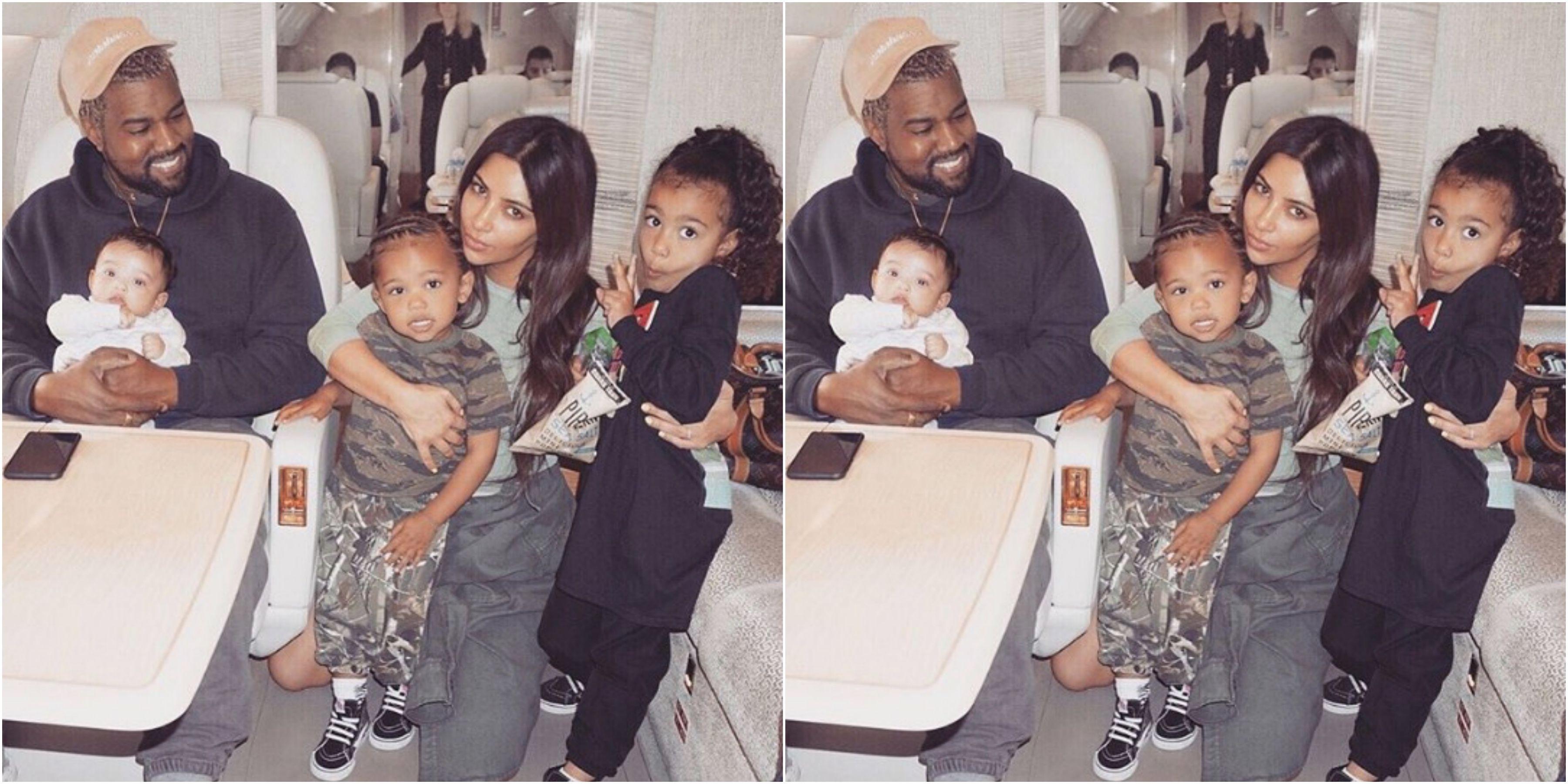 Kim Kardashian West Kanye West North Saint Chi