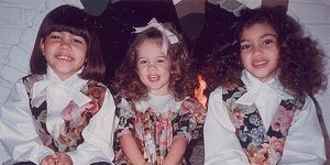 Kim KArdashian hermanas pequeñas