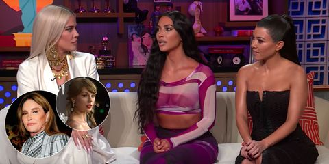 Kim, Khloé, and Kourtney Kardashian on Their Feuds With Taylor Swift and Caitlyn Jenner