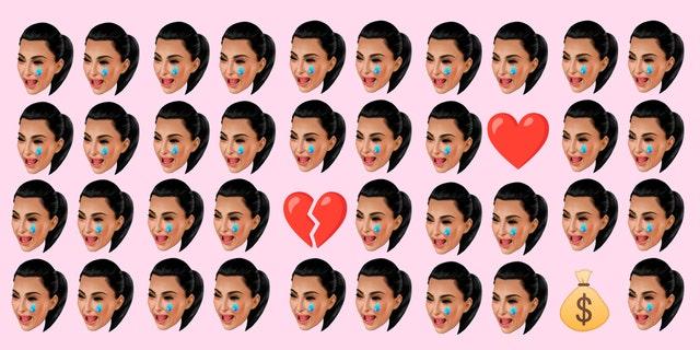 kim kardashian emoji llorando montaje