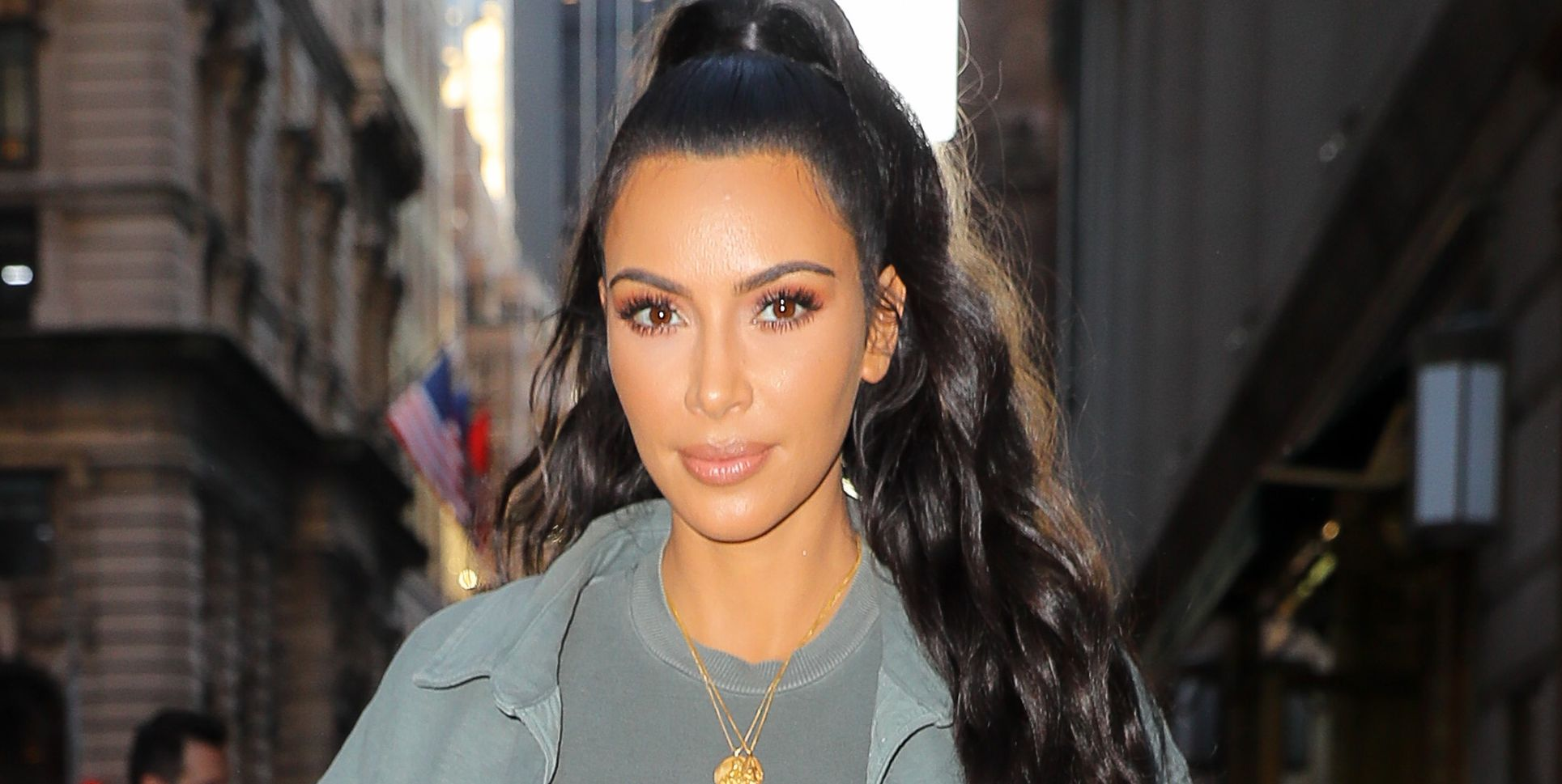 Kim Kardashian was spotted leaving the Polo Bar in New York City