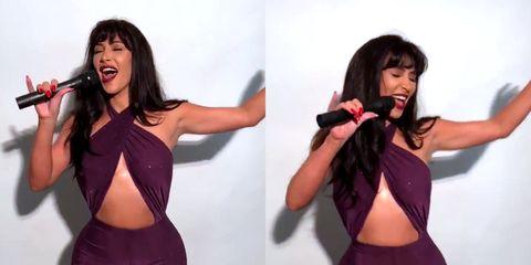 Photo shoot, Model, Abdomen, Long hair, Singer, Muscle, Performance, Brown hair, Trunk, Neck,