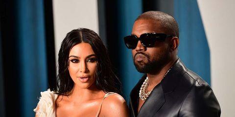 kim kardashian y kanye west posando