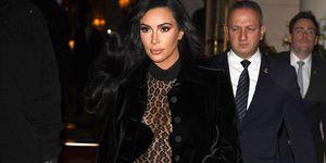 kim kardashian, sheer body suit