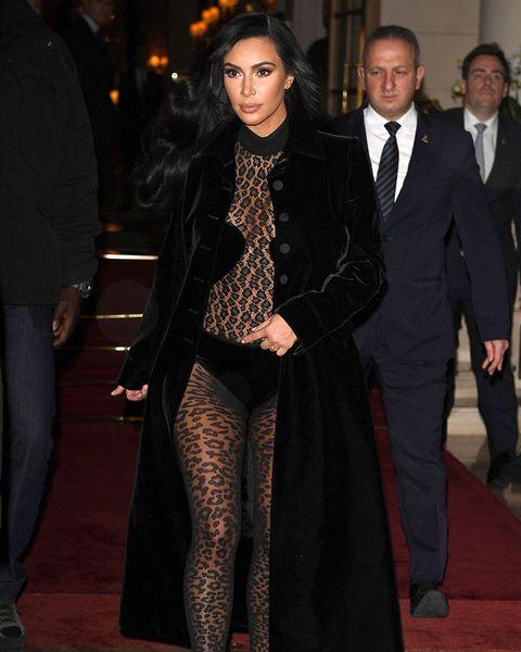 0f1479e0c52 Kim Kardashian naked outfits: Kim just wore a sheer leopard print ...