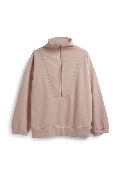 Clothing, Outerwear, Sleeve, Beige, Pink, Jacket, Collar, Neck, Cape, Peach,