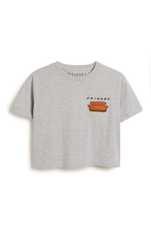 Clothing, T-shirt, White, Sleeve, Orange, Product, Top, Pocket, Active shirt, Font,