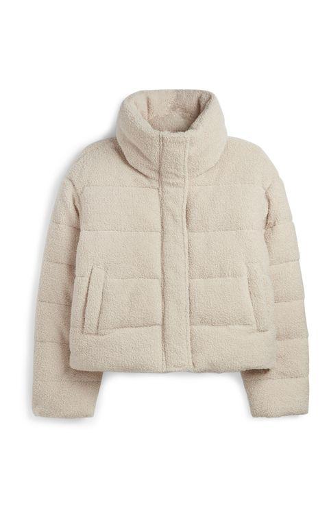 Clothing, Outerwear, Hood, Sleeve, Jacket, Beige, Sweater, Fur, Woolen, Collar,