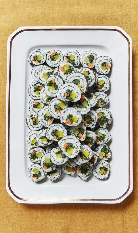 Gimbap, Sushi, Cuisine, Dish, Food, California roll, Comfort food, Sardine, Recipe, Side dish,