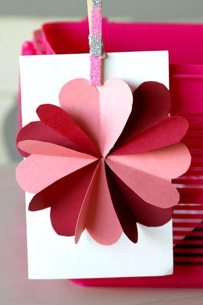 Valentine's Day DIY Card Hearts Flower