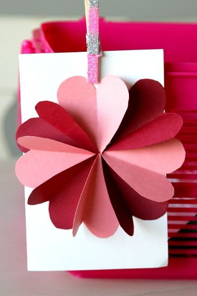 Valentine's Day DIY Card Hearts Flower