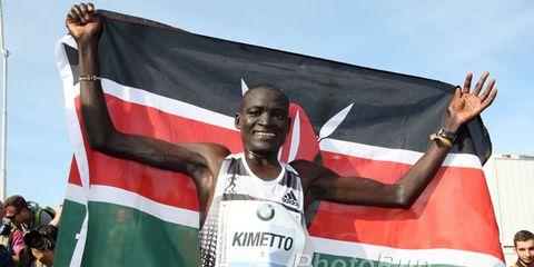 Dennis Kimetto after the 2014 Berlin Marathon