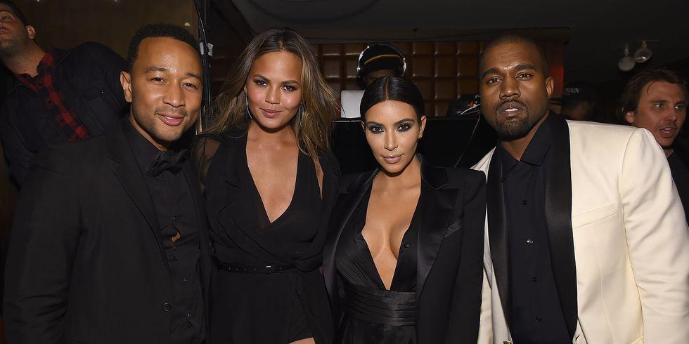 Chrissy Teigen, Kim Kardashian, John Legend, Kanye West, privé sms, berichten, sms, twitter, Trump, ruzie