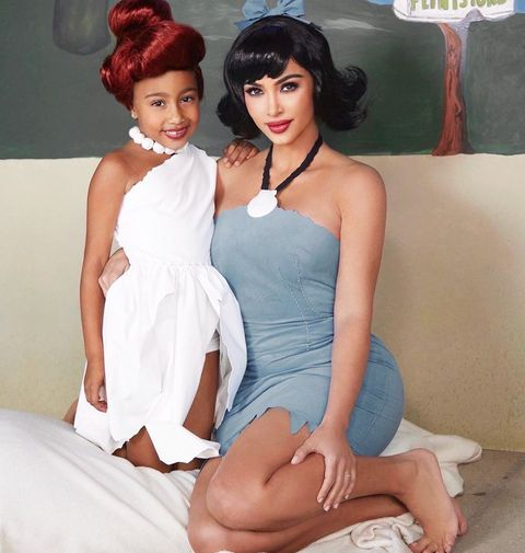 Kim K Halloween Costume 2020 See Kim Kardashian and Her Kids North, Saint, and Chicago's Great