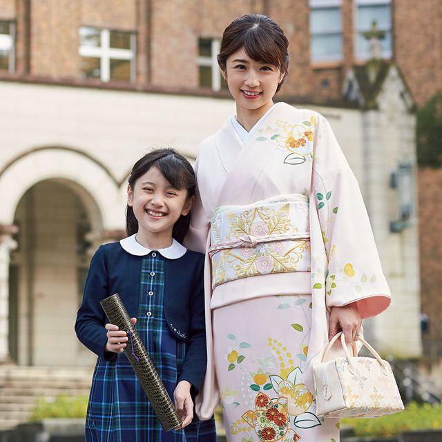小倉優子さんの卒業式着物