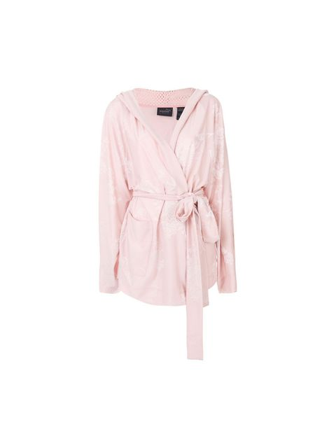 Clothing, Pink, Outerwear, Sleeve, Cardigan, Robe, Sweater, Blouse, Top, Beige,