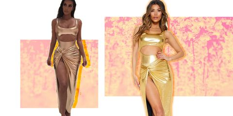 bcf0ee399a Days after Kim Kardashian told brands not to copy her gold dress ...