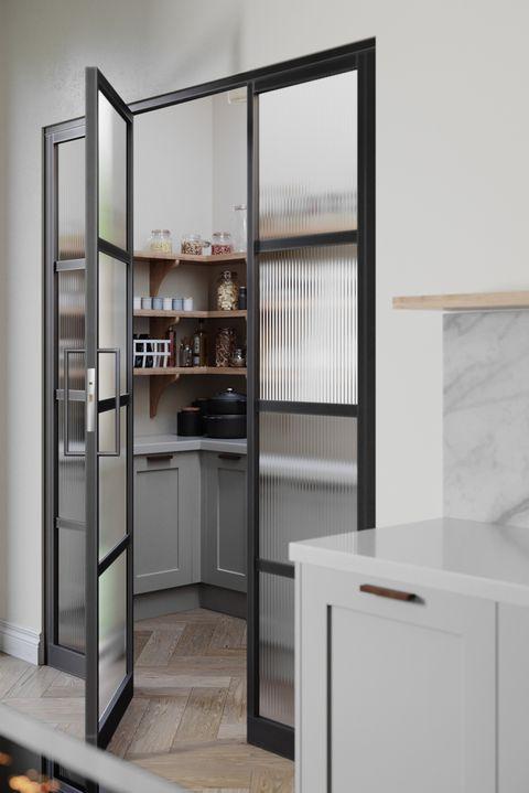 grey kitchen larder