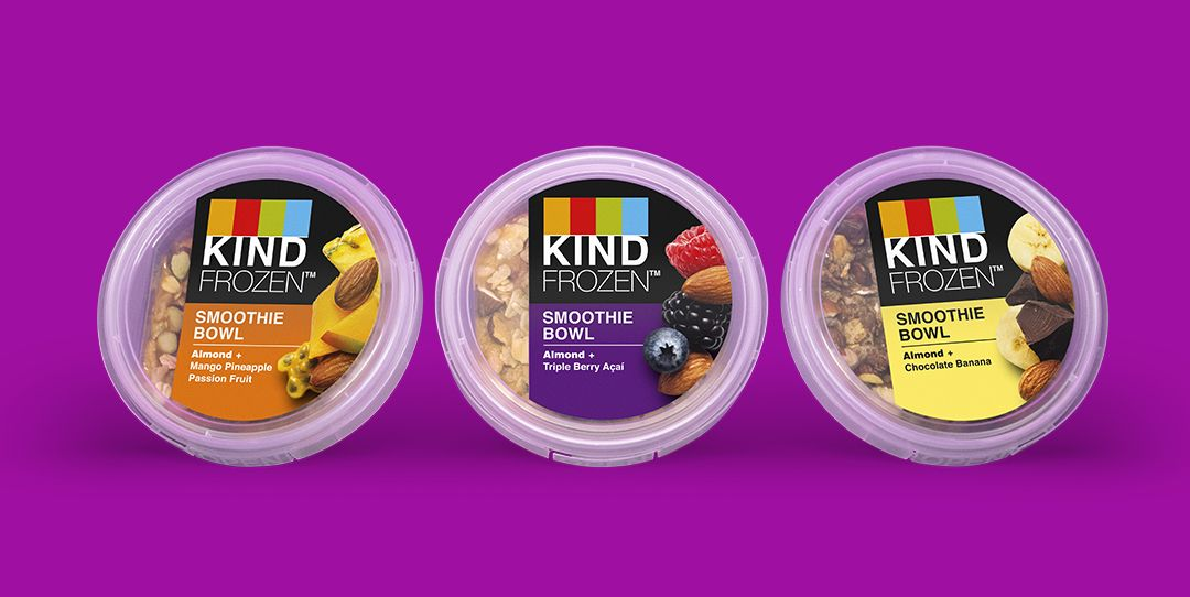 KIND Just Released A Line Of Smoothie Bowls And There's Even A Mango Pineapple Passion Fruit Flavor