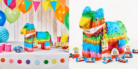 a kinder piñata exists for birthday parties and it's stuffed full of kinder chocolate