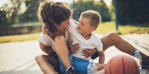 kinderen en sporten