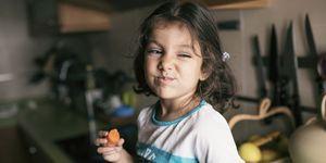 Kinderen eten groenten