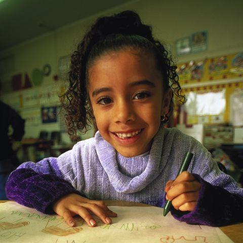 kindergarten students school supplies