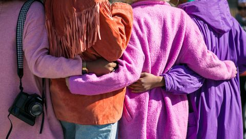 Kindness, women hugging