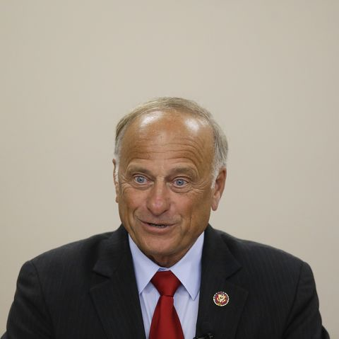 Republican Rep. Steve King Holds Town Hall Meeting In Boone, Iowa