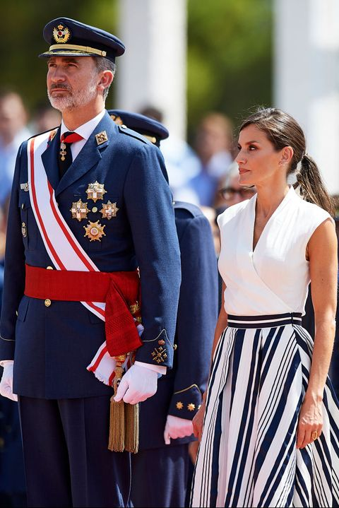Spanish Royals Attend a Military Event in Murcia
