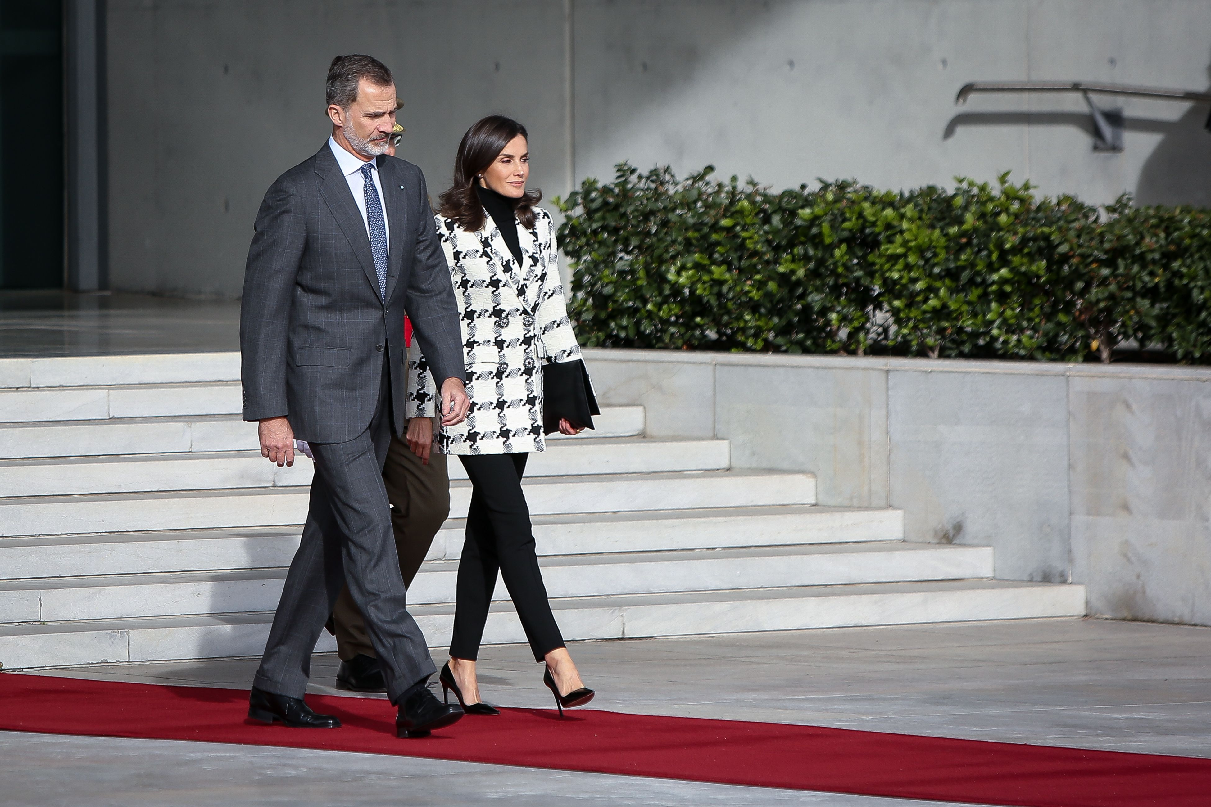 Queen Letizia will convince you to invest in a statement wool blazer this winter