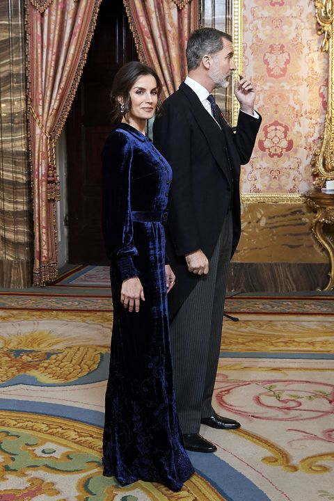 Spanish Royals Receive The Diplomatic Corps At Zarzuela Palace